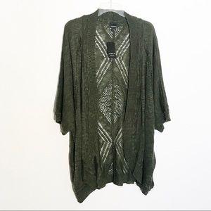 NWT Torrid Olive Green Knit Cardigan Size 5XL